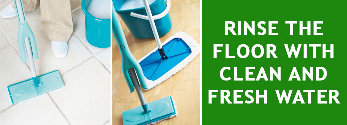 Rinse the floor with clean and fresh water
